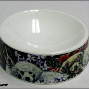 Howie's Hearts Stoneware Bowls - Dog not Included